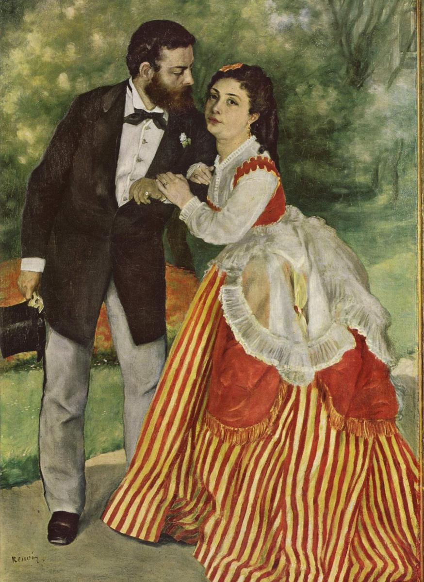 Пьер Огюст Ренуар. Пара (Альфред Сислей с женой)