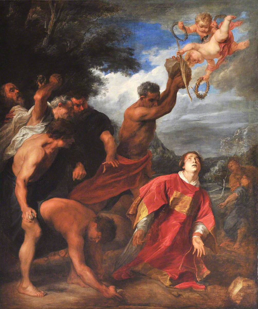 Anthony van Dyck. The stoning of Saint Stephen