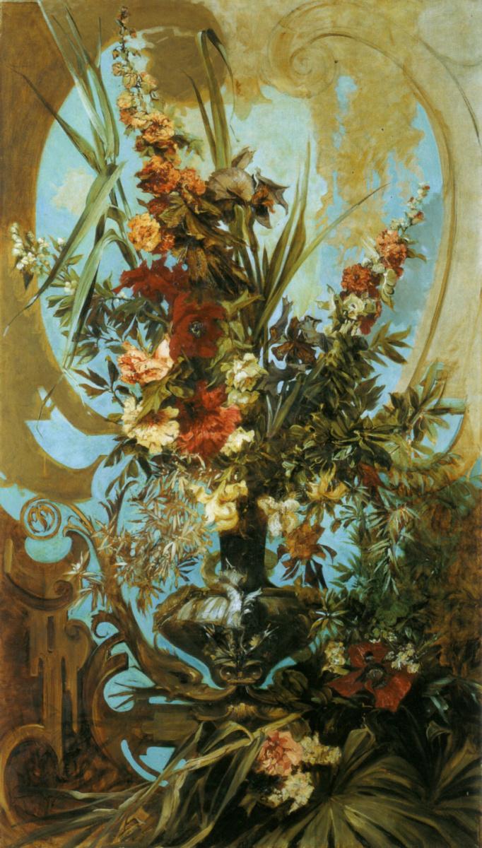 Ганс Макарт. Декоративный букет цветов