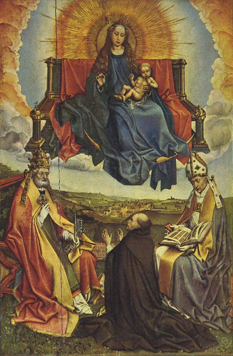 Робер Кампен. Дева Мария во славе