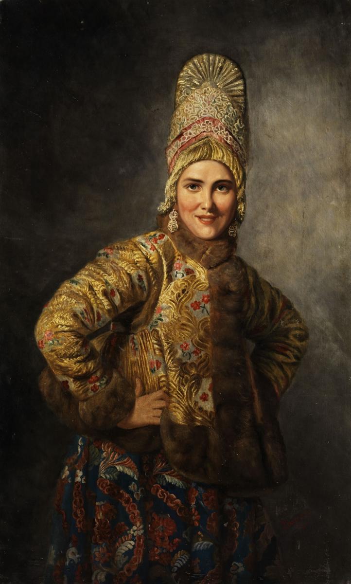 Карл Богданович Вениг. «Русская девушка», холст, масло
