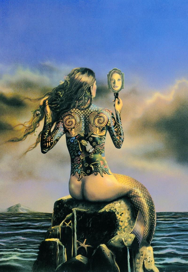 David Delamar. Mermaid with mirror