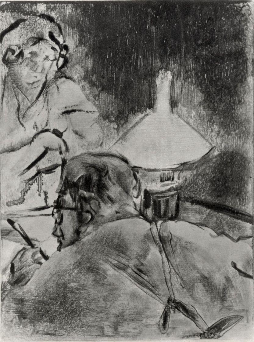 Эдгар Дега. Чтение при свете лампы