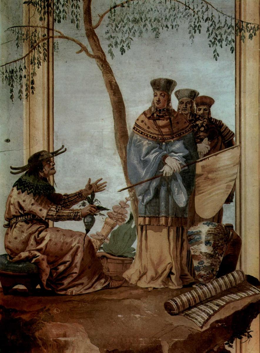 Джованни Доменико Тьеполо. Фрески из виллы Вальмарана в Виченце. Китайский принц у предсказателя
