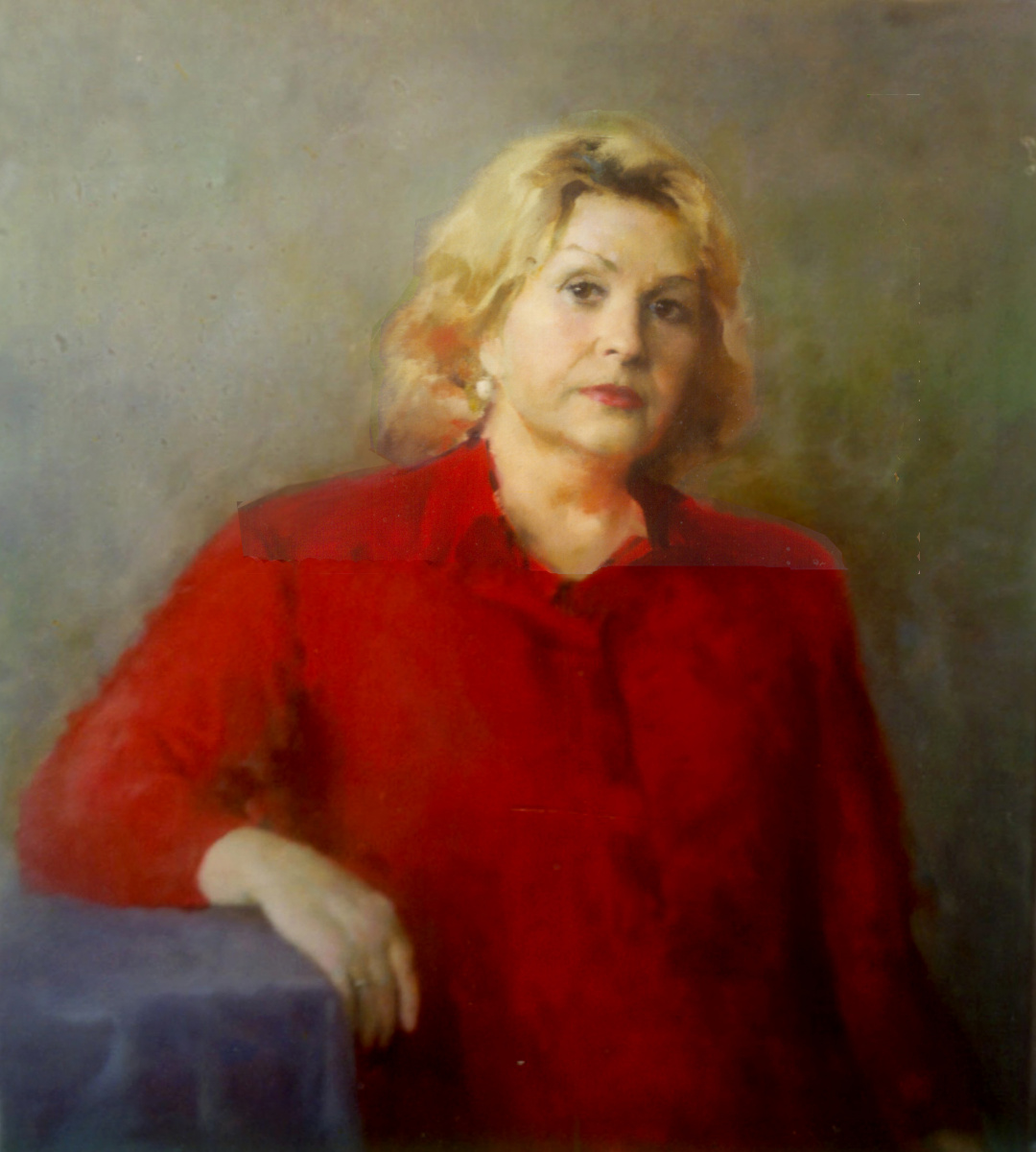 Dmitry Nayda. Portrait in red