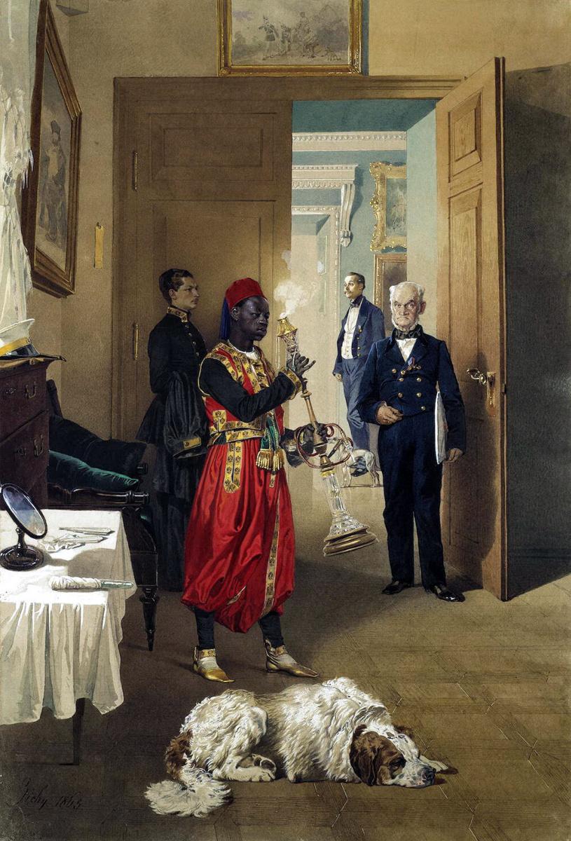 Михай Зичи. Передняя в императорском дворце