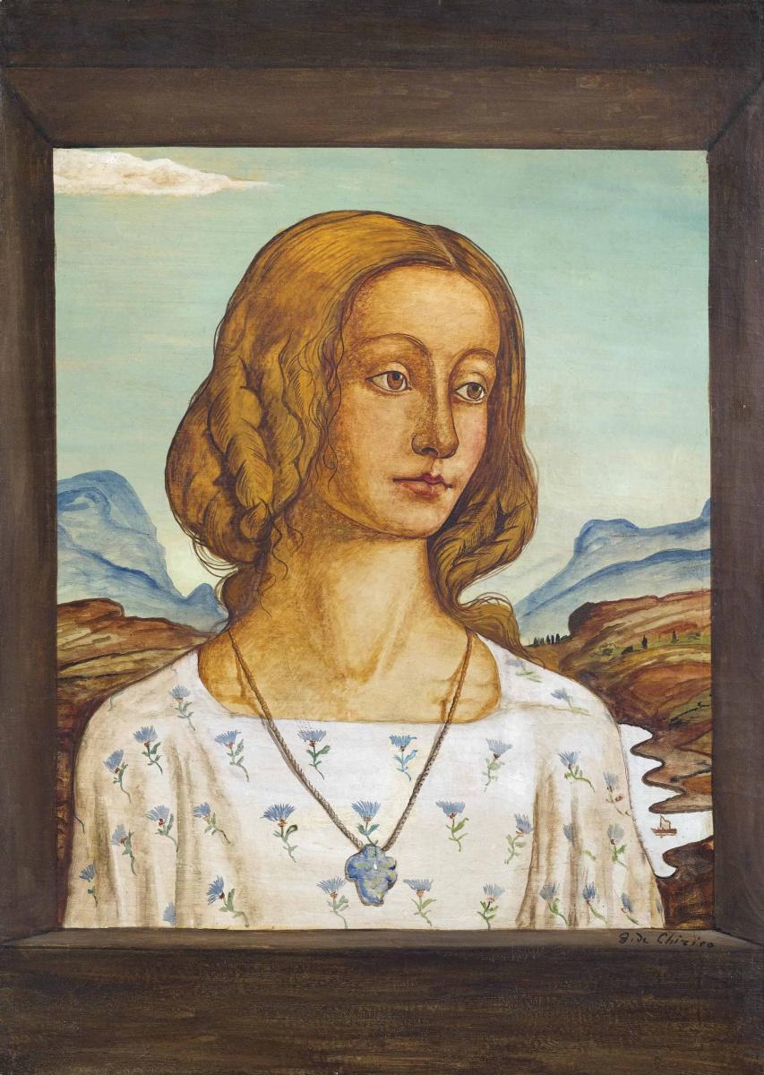 Джорджо де Кирико. Портрет девушки