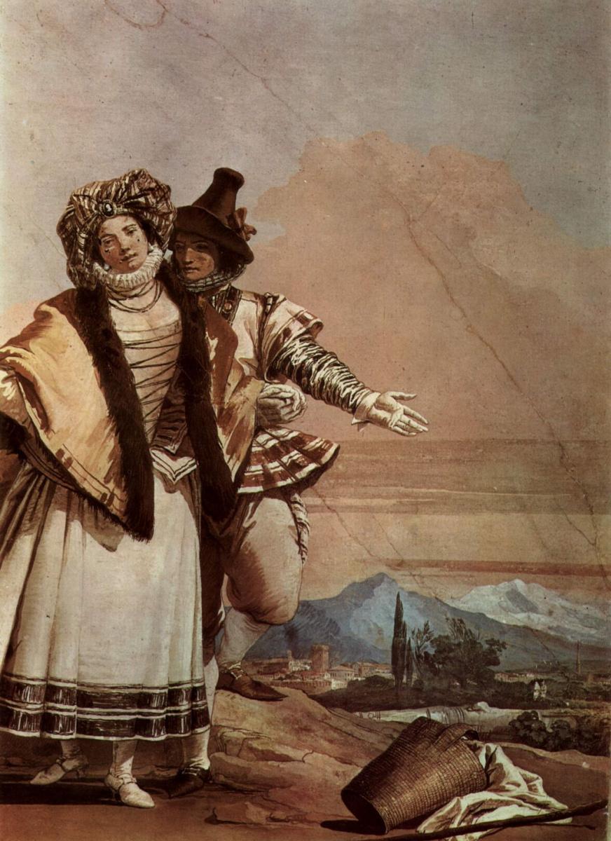 Джованни Баттиста Тьеполо. Объяснение в любви. Фрески из виллы Валлмарана, Виченца