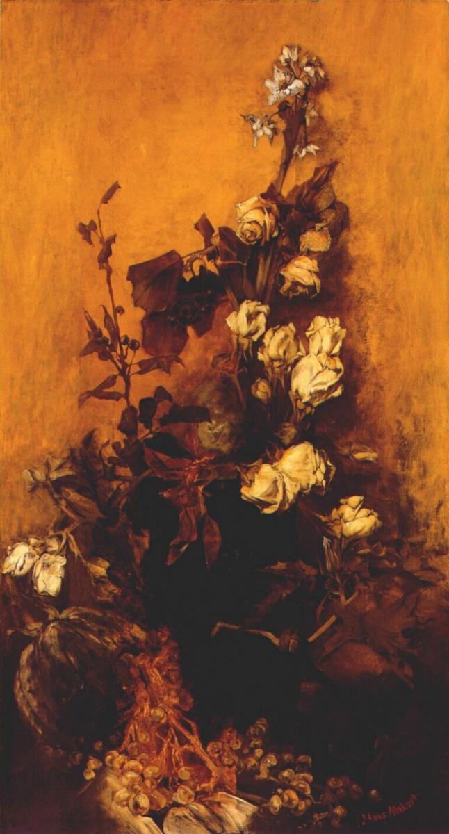 Ганс Макарт. Натюрморт с розами