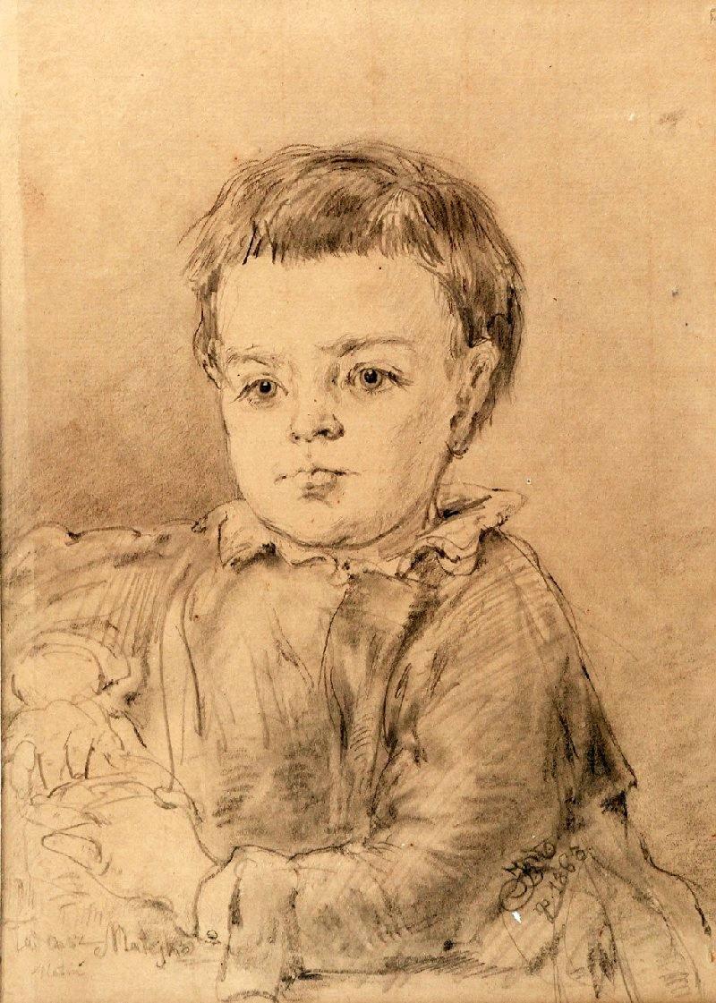 Ян Матейко. Портрет сына художника Тадеуша