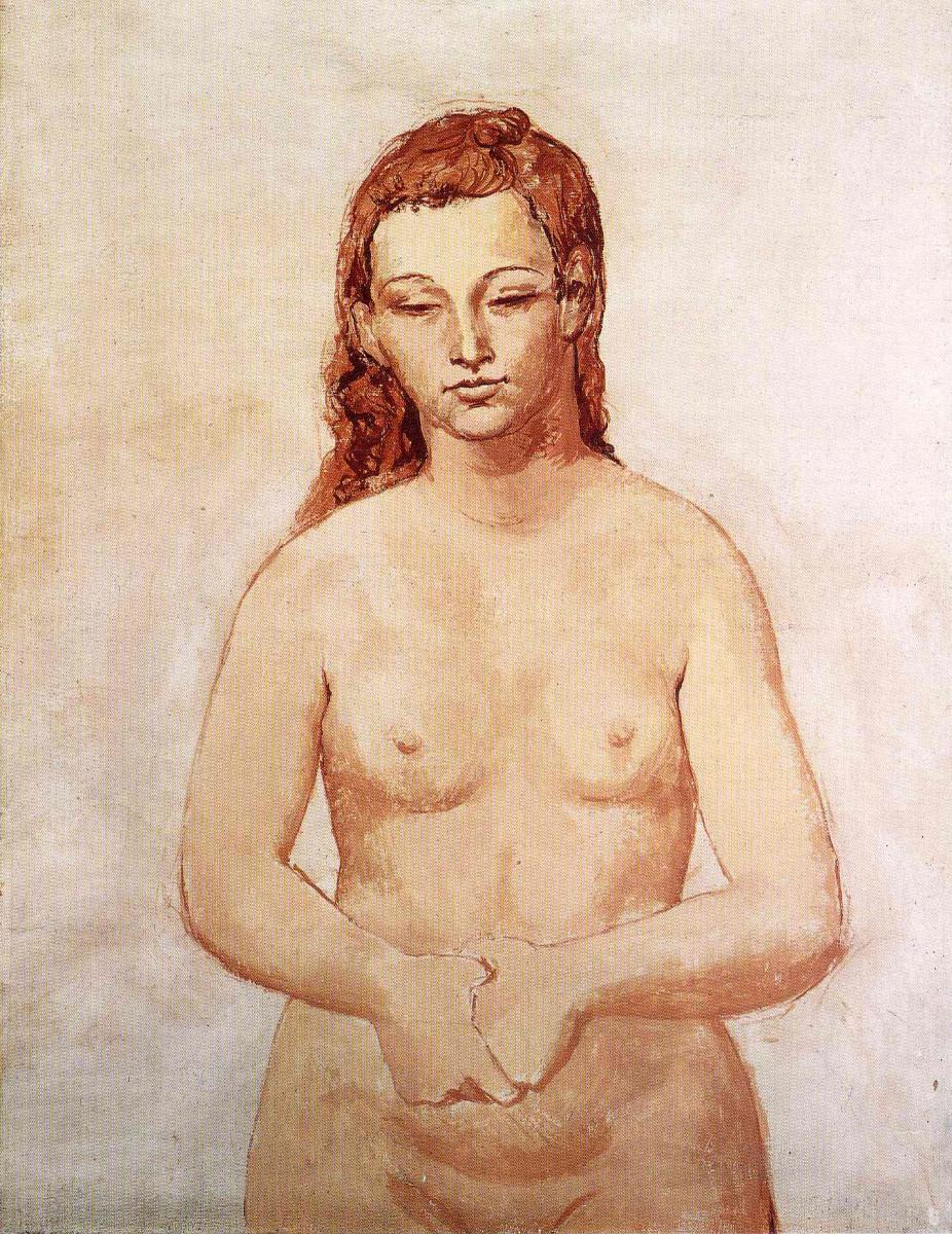 Пабло Пикассо. Обнаженная со сжатыми руками