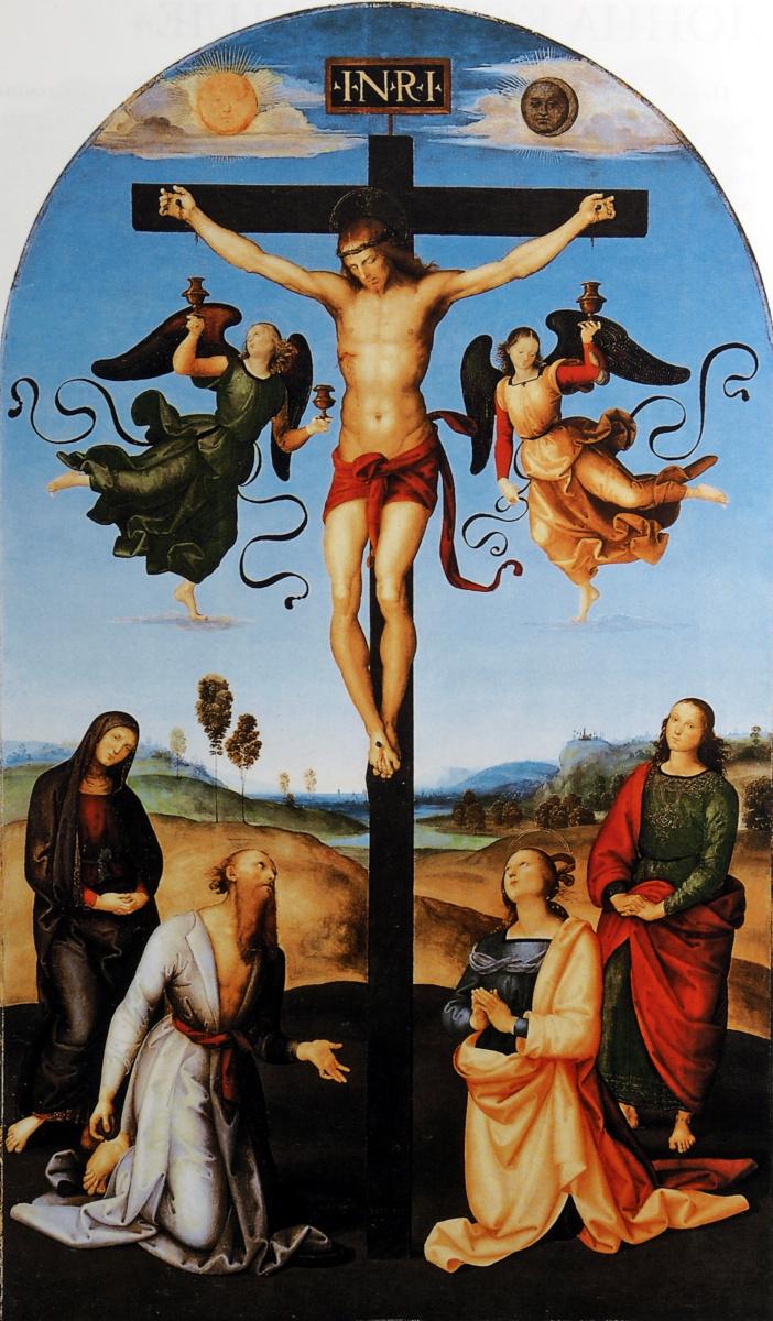 Рафаэль Санти. Распятие с Девой Марией, святыми и ангелами