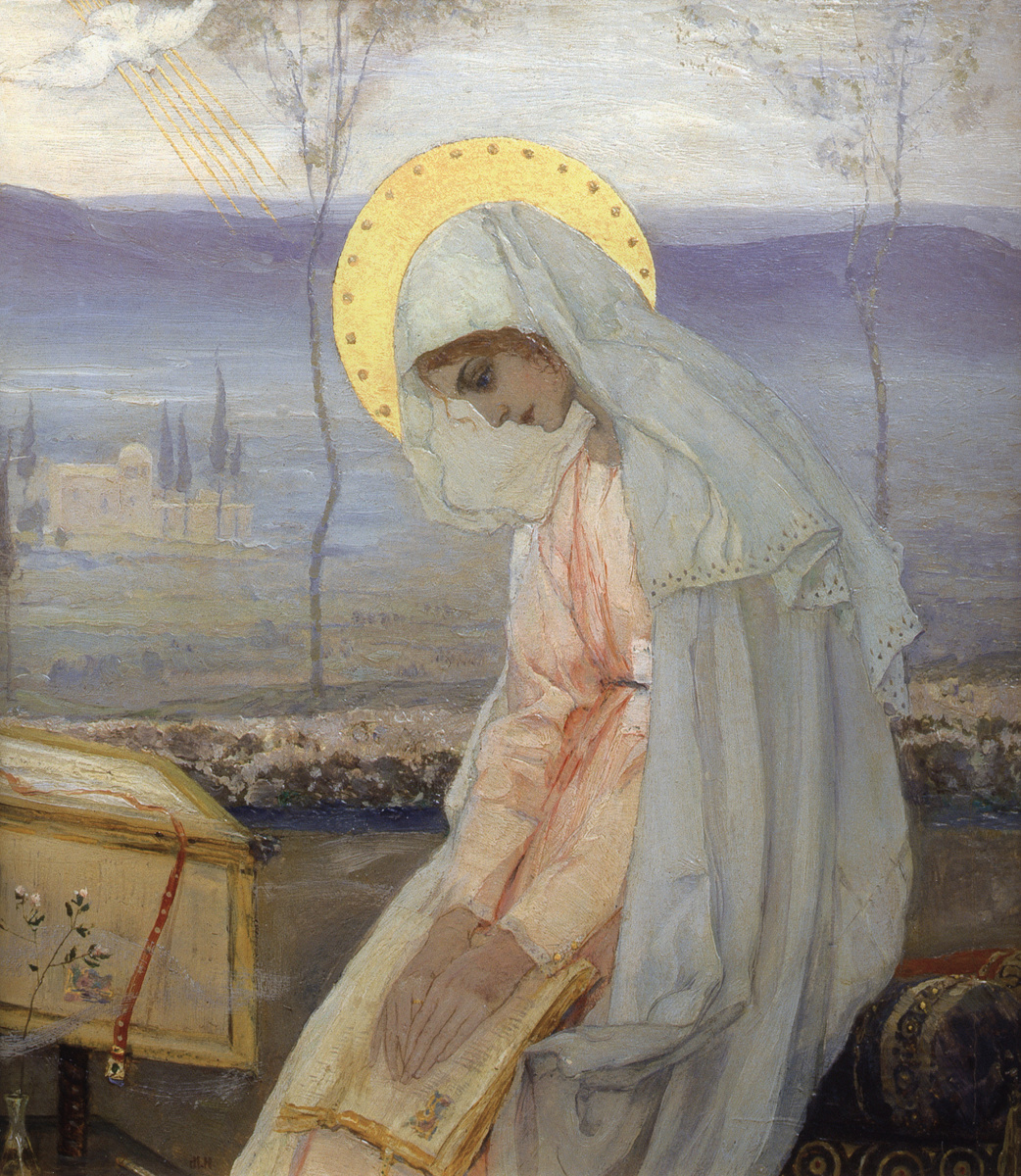 "Mikhail Vasilyevich Nesterov. The Virgin Mary. In the diptych ""Annunciation"""