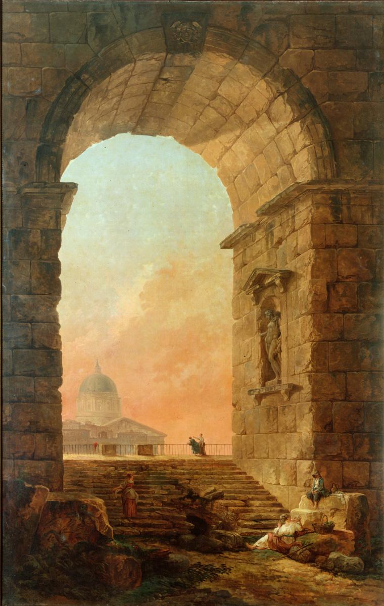Хьюберт Роберт. Арка и купола Святого Петра в Риме