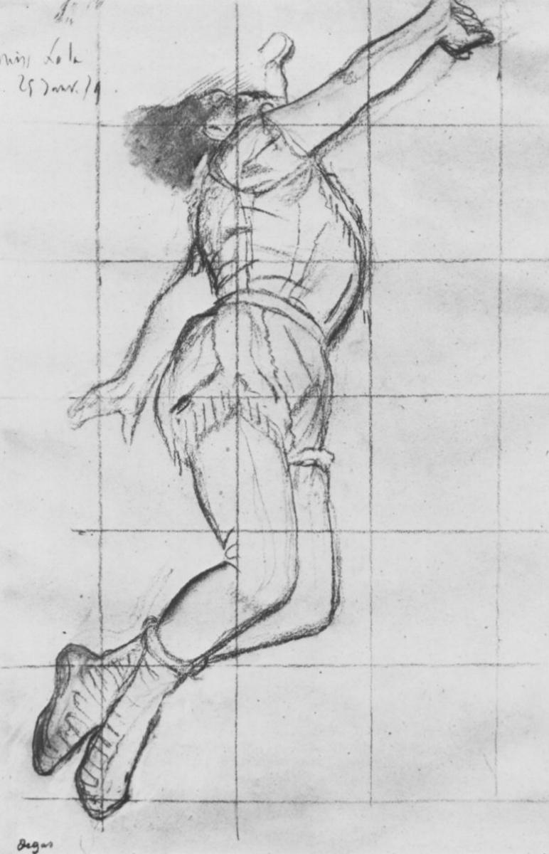 Эдгар Дега. Мисс Ла ла в цирке Фернандо (эскиз)
