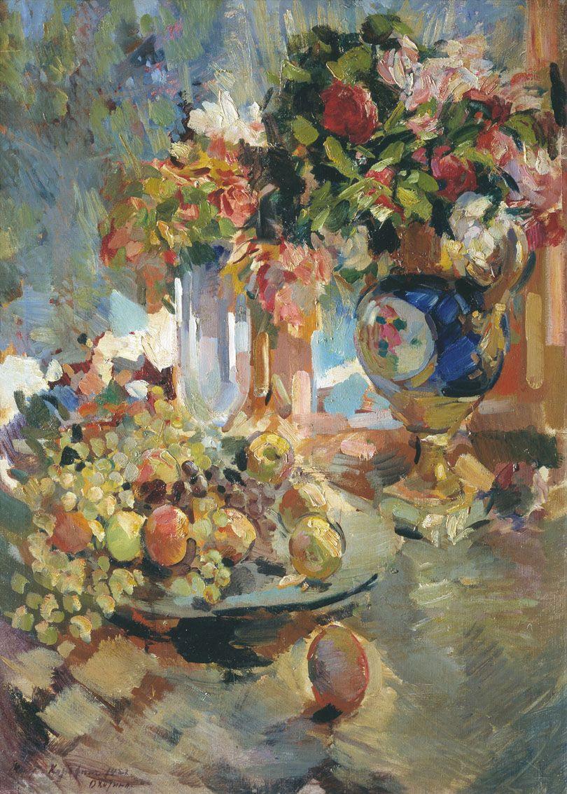 Константин Алексеевич Коровин. Натюрморт с синей вазой