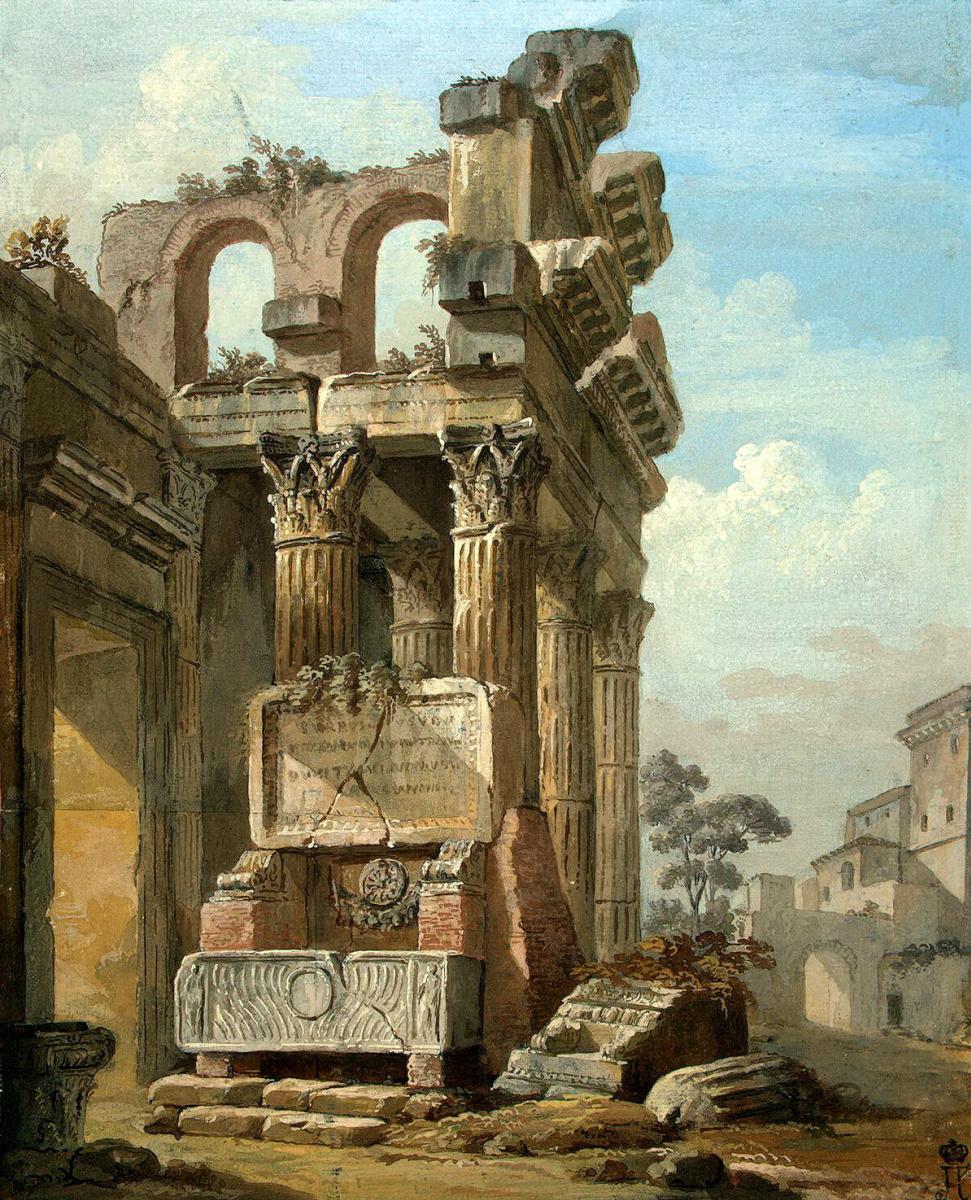 Шарль-Луи Клериссо. Античные руины