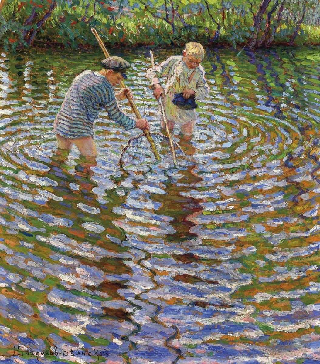 Nikolay Petrovich Bogdanov-Belsky. Crayfishing
