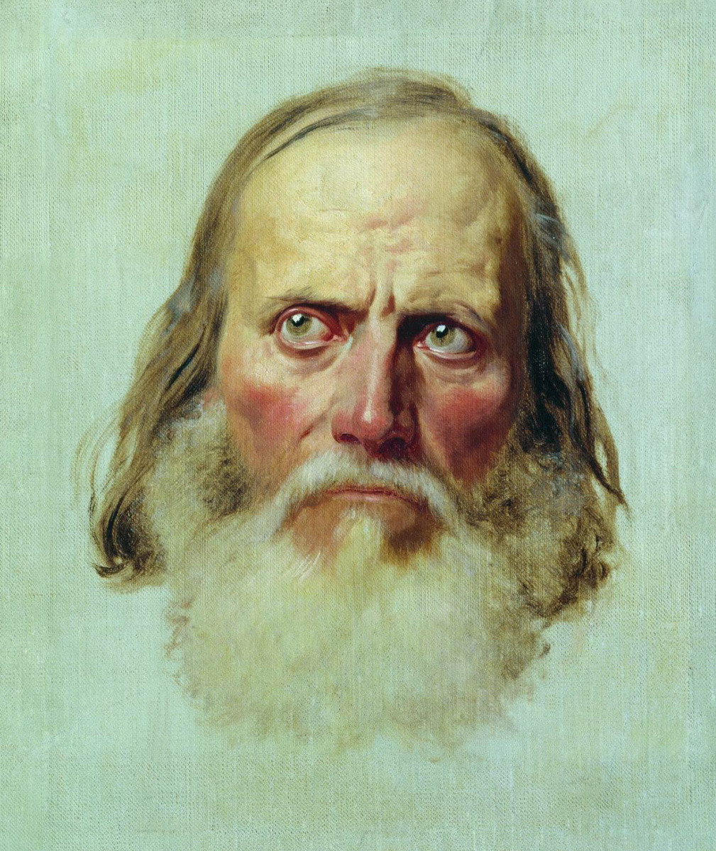 Fedor Andreevich Bronnikov. The head of an old man. Sketch