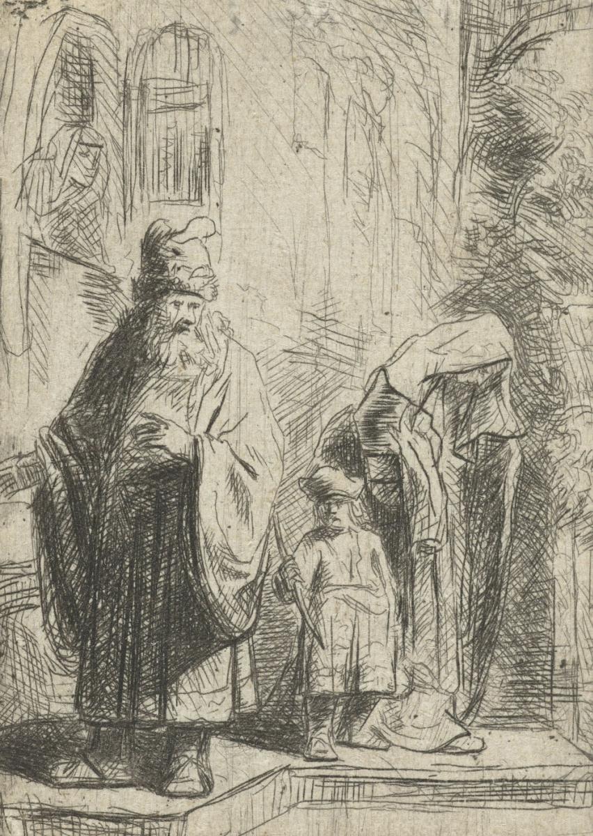 Ян Ливенс. Авраам изгоняет Агарь и Исмаила