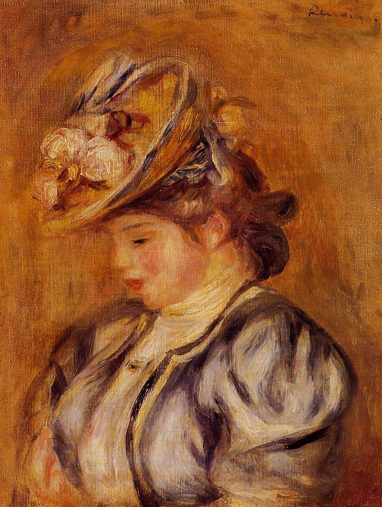 Пьер Огюст Ренуар. Девушка в цветочной шляпе