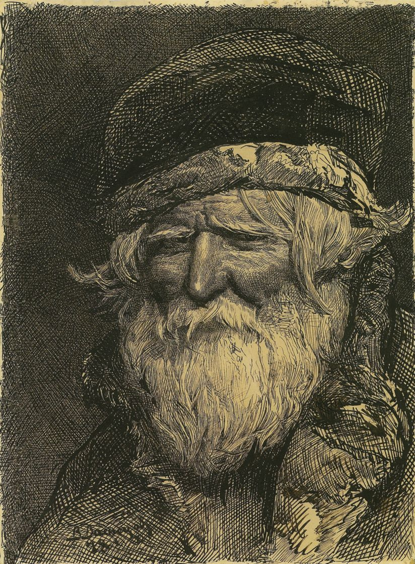 Viktor Vasnetsov. Head of a peasant