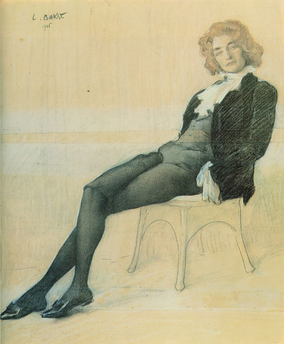 Lev (Leon) Bakst. Portrait of the writer Zinaida Nikolaevna Gippius