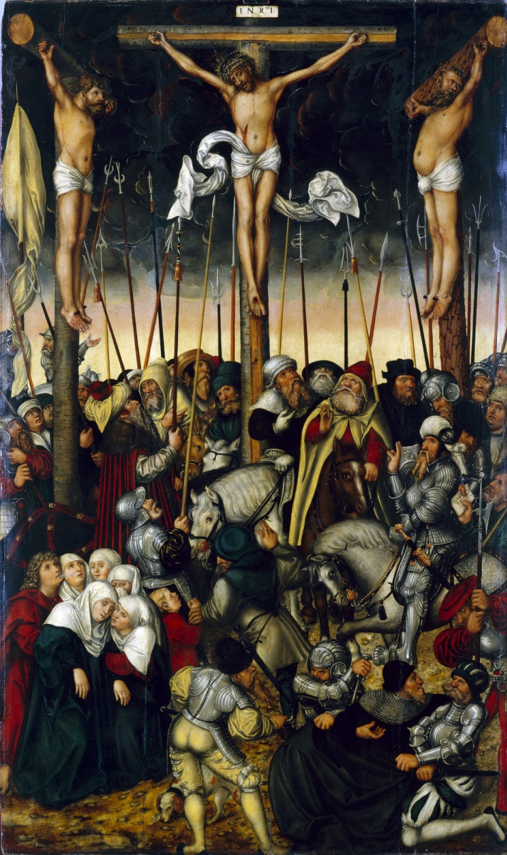 Lucas Cranach the Younger. The crucifixion. 1546