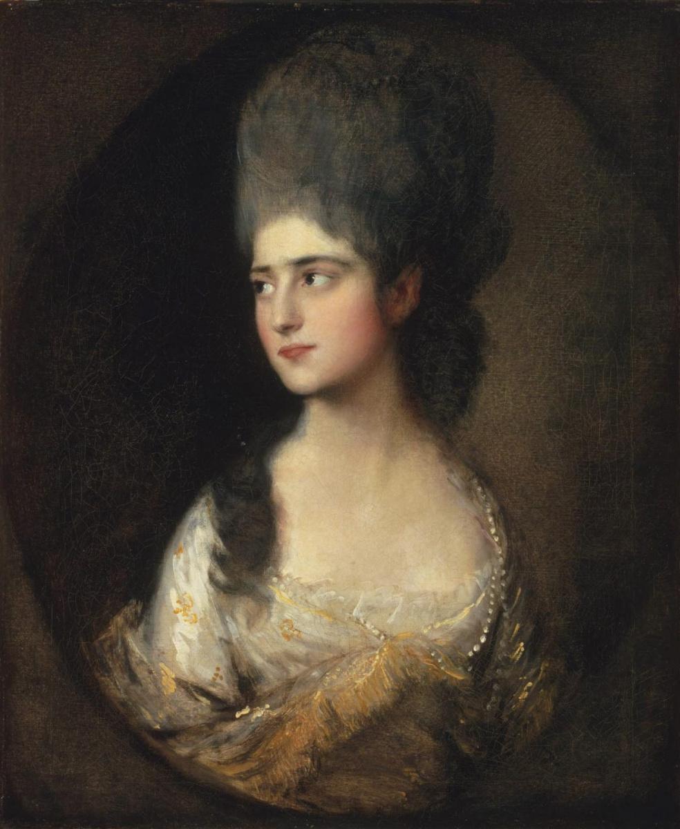 Thomas Gainsborough. Portrait of Mrs. Elizabeth Linley (later Mrs Richard Brinsley Sheridan)