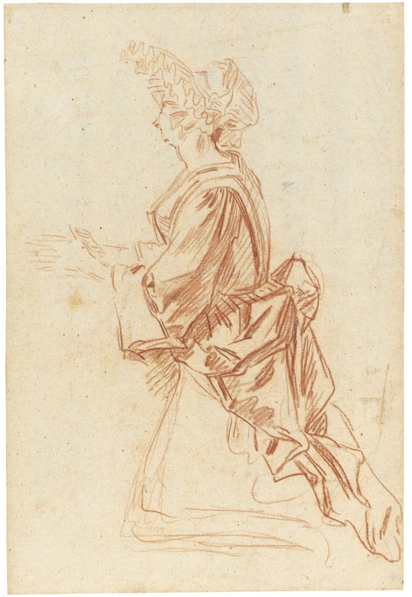 Антуан Ватто. Женщина молится