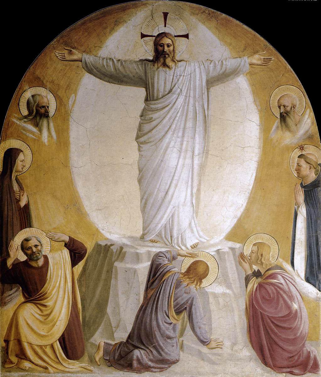 Fra Beato Angelico. Transfiguration. Fresco of the Monastery of San Marco, Florence