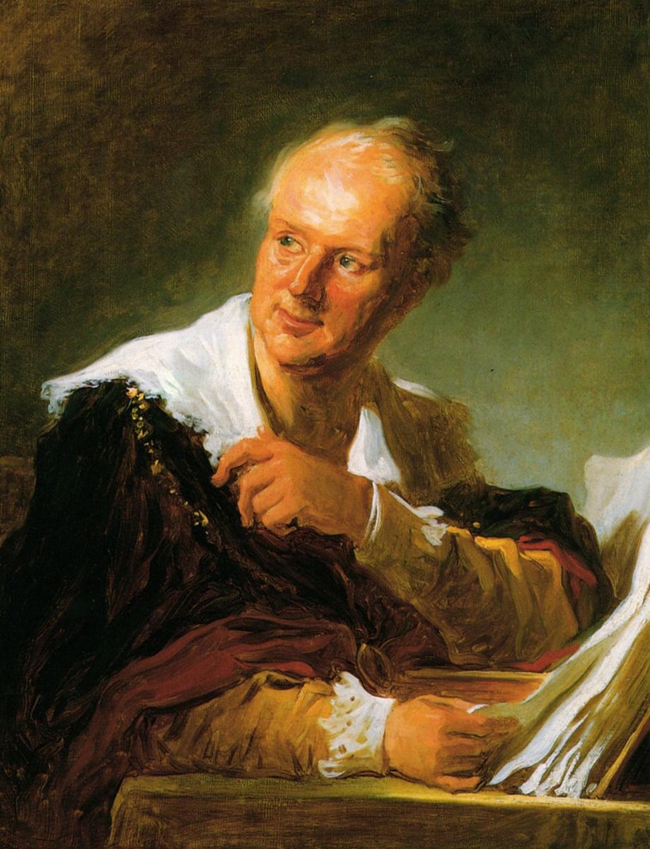 Жан Оноре Фрагонар. Портрет мужчины (по одной из версий - Дени Дидро)