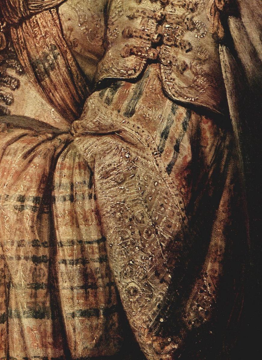 Рембрандт Ван Рейн. Флора, портрет Саскии, фрагмент, одежда