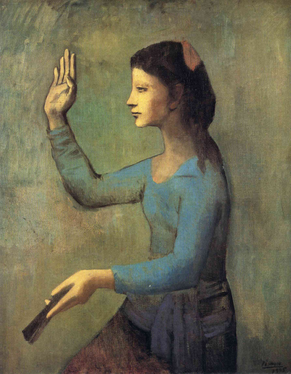 Пабло Пикассо. Девушка с поднятой рукой