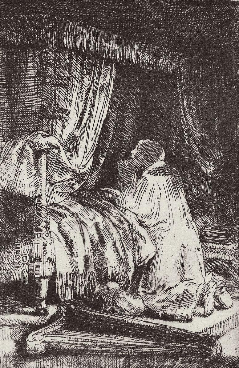 Рембрандт Ван Рейн. Давид на молитве