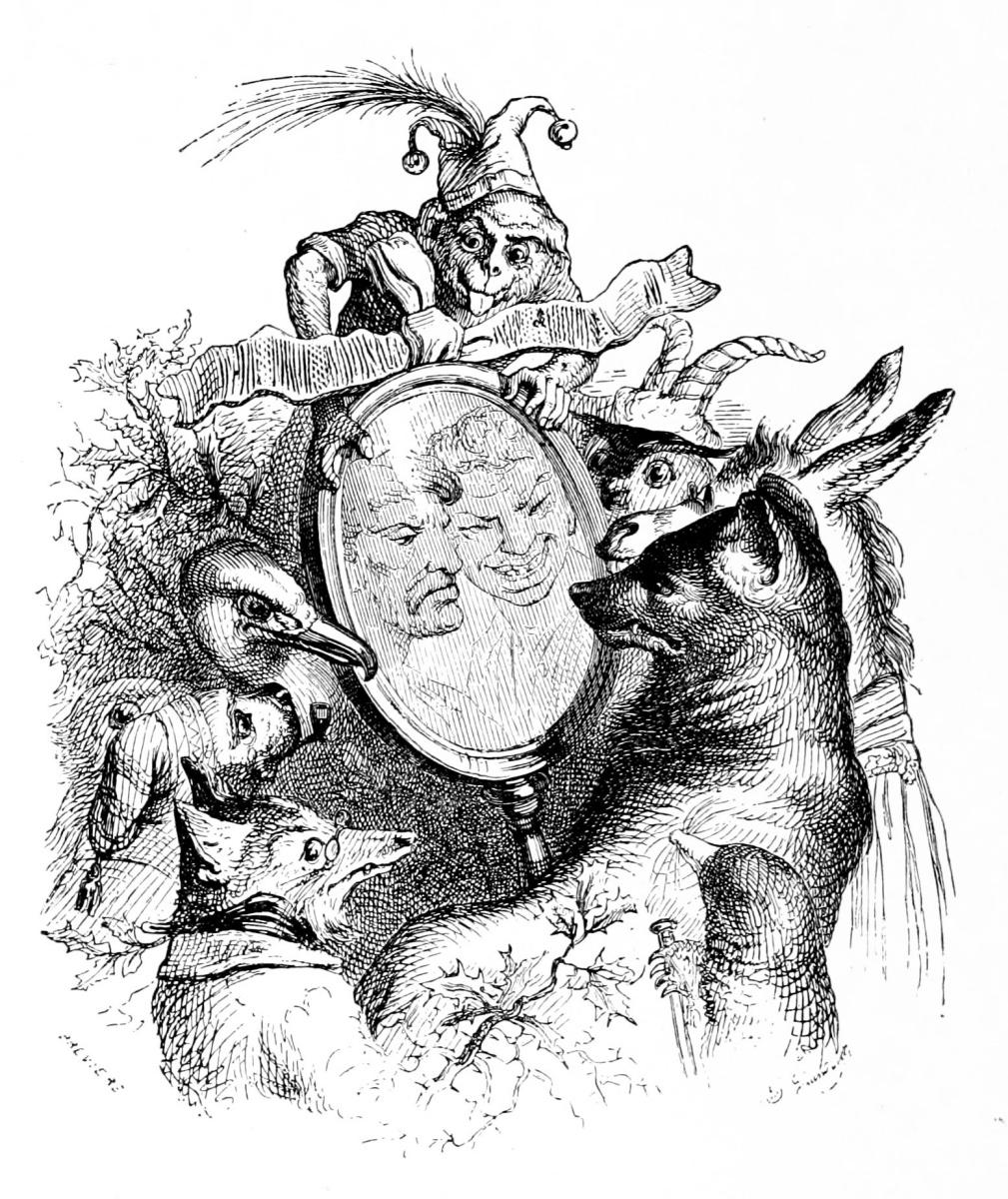 Жан Иньяс Изидор (Жерар) Гранвиль. Зеркало Правды. Иллюстрации к басням Флориана