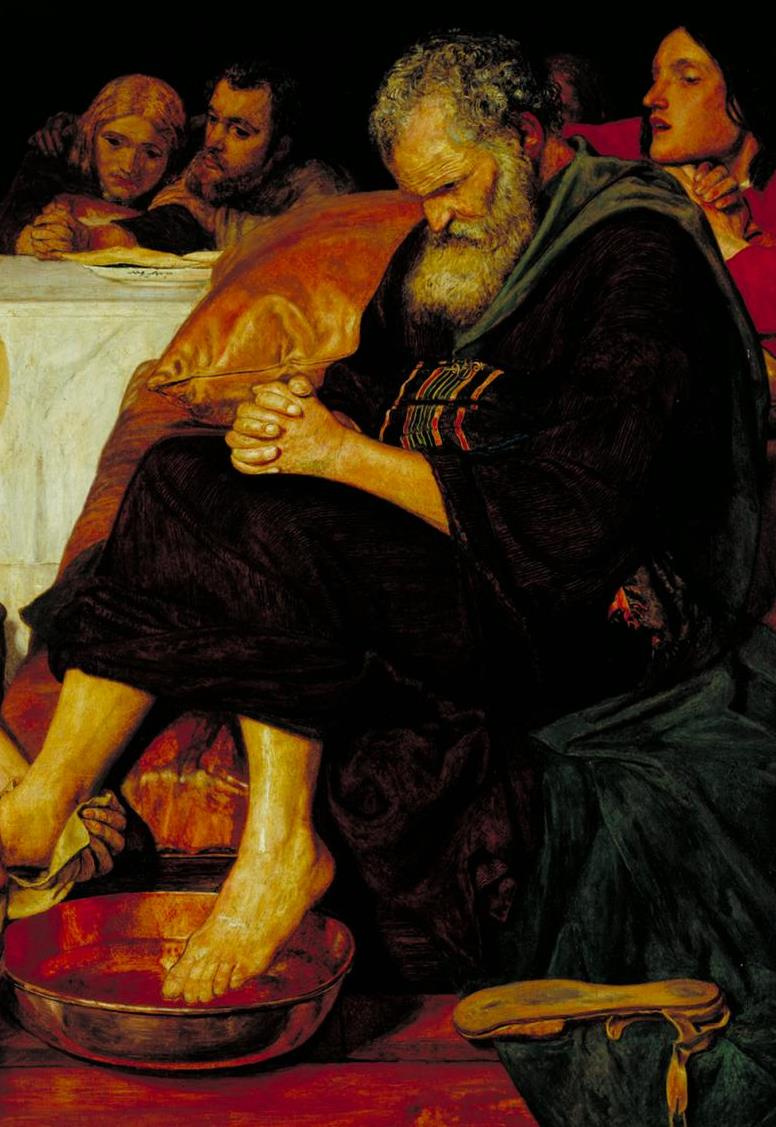 Ford Madox Brown. Jesus washes the feet of Peter. Fragment II