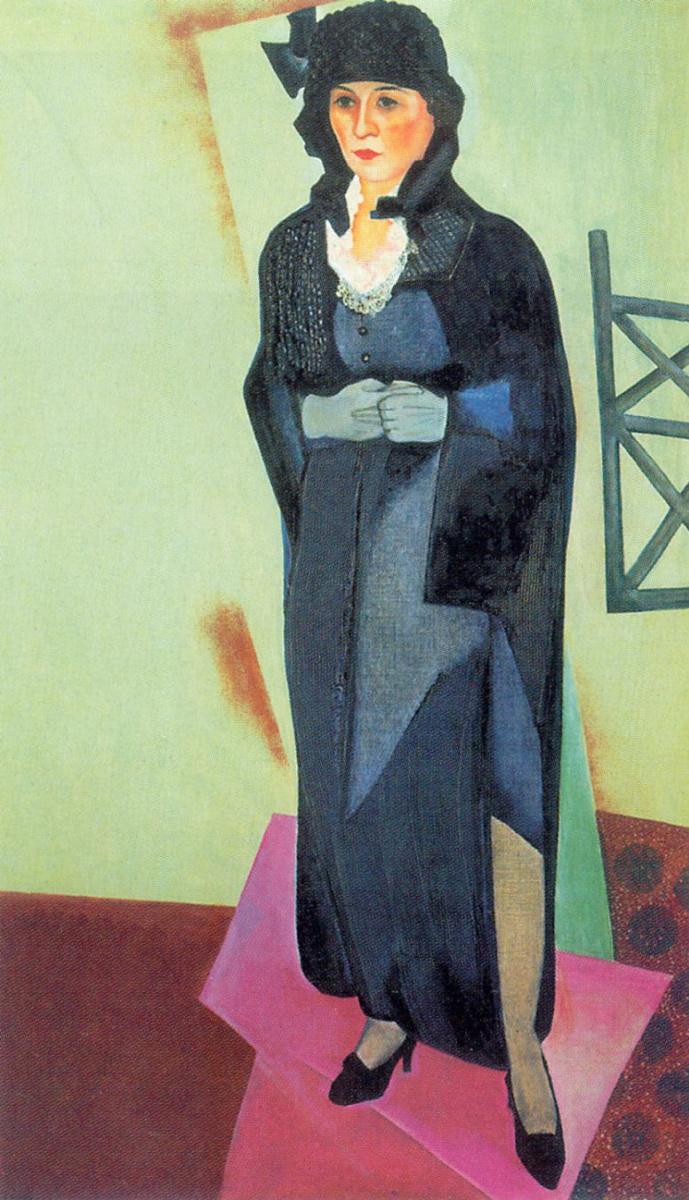 Давид Петрович Штеренберг. Портрет Н. Д. Штеренберг, жены художника