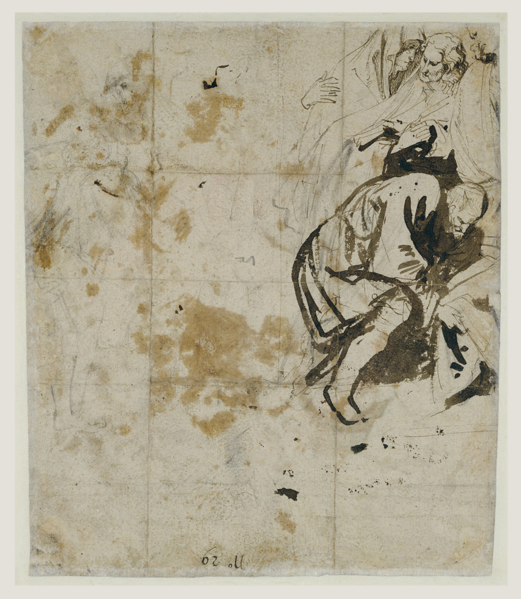 Anthony van Dyck. Burial (reverse side)