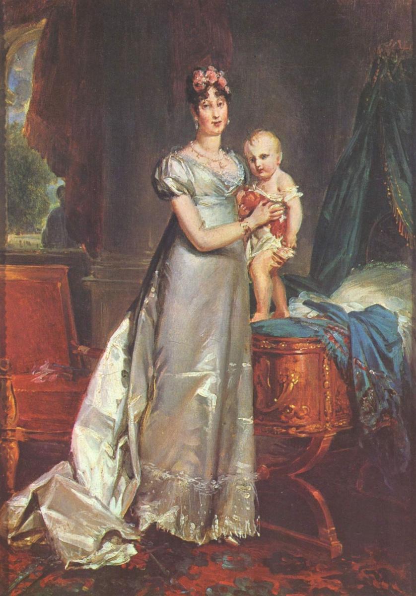 Франсуа Паскаль Симон Жерар. Портрет Марии Луизы с римским королем