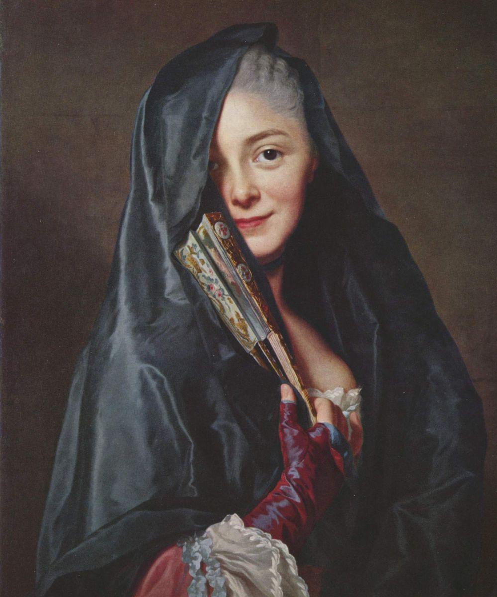 Alexander Roslin. Lady under the veil. Marie Suzanne Roslen