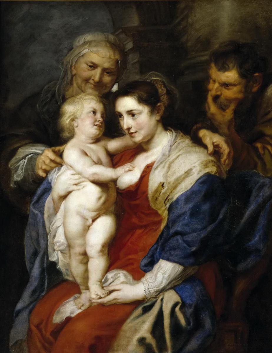 Питер Пауль Рубенс. Святое семейство со святой Анной