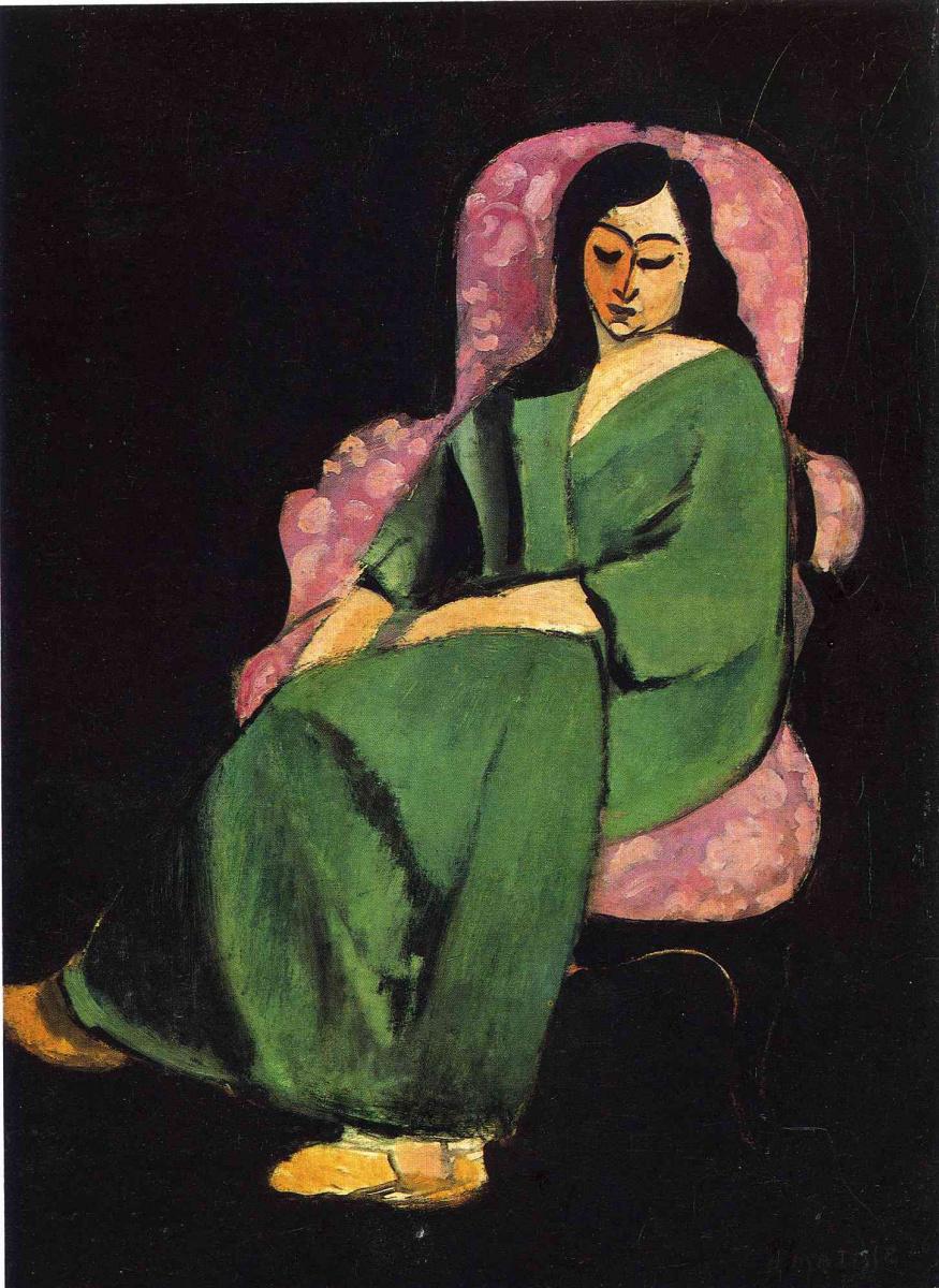 Анри Матисс. Дама в зеленом