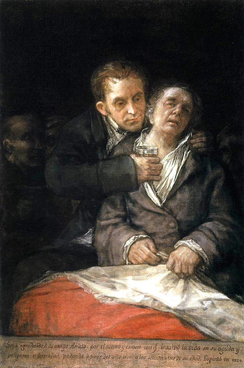 Франсиско Гойя. Автопортрет с доктором Арриета