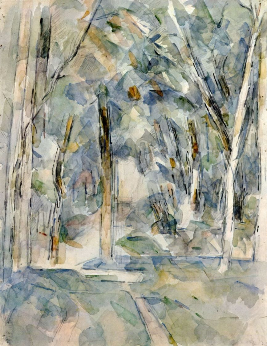 Поль Сезанн. Аллея деревьев