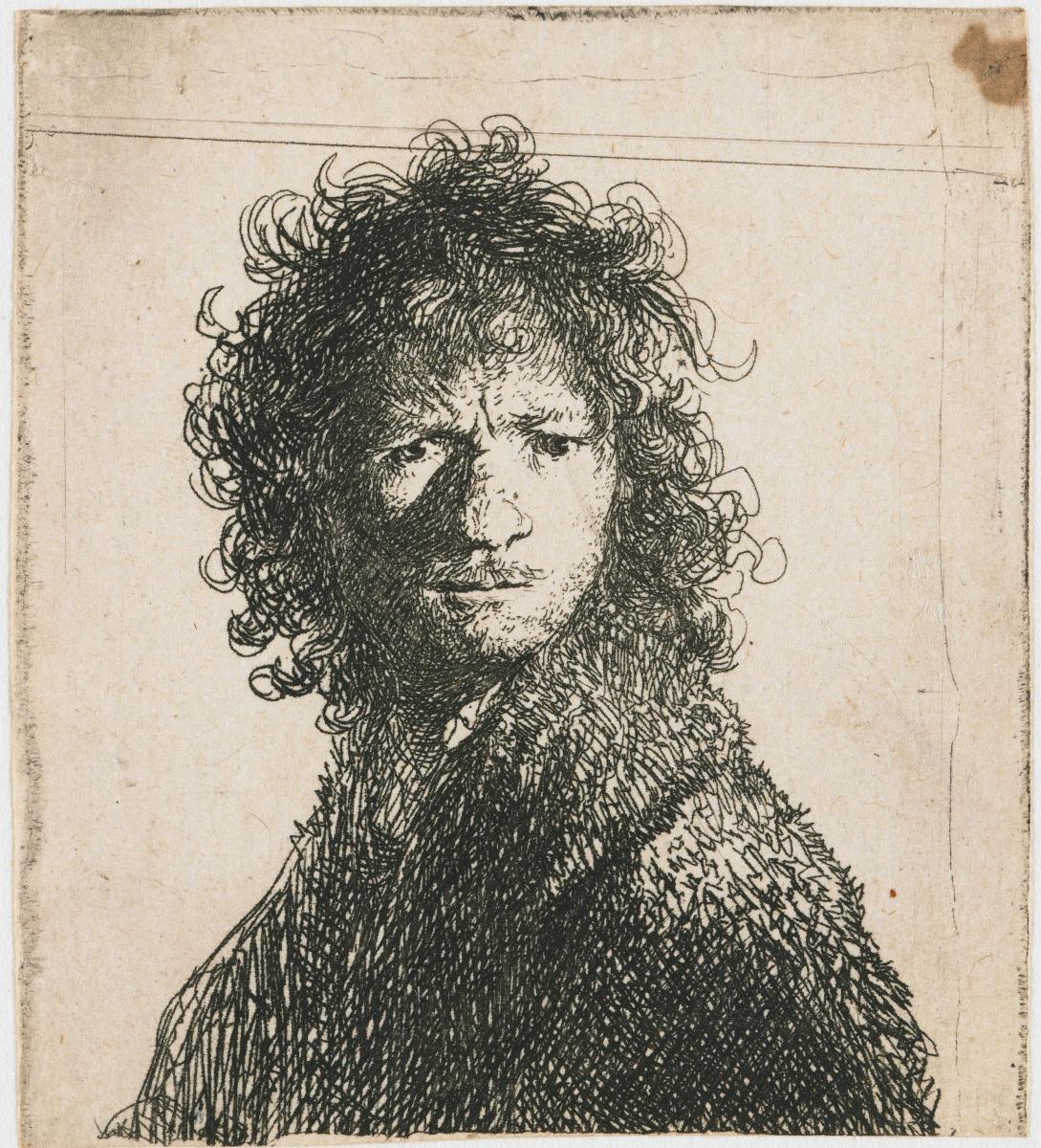 Rembrandt Harmenszoon van Rijn. Self portrait frowning