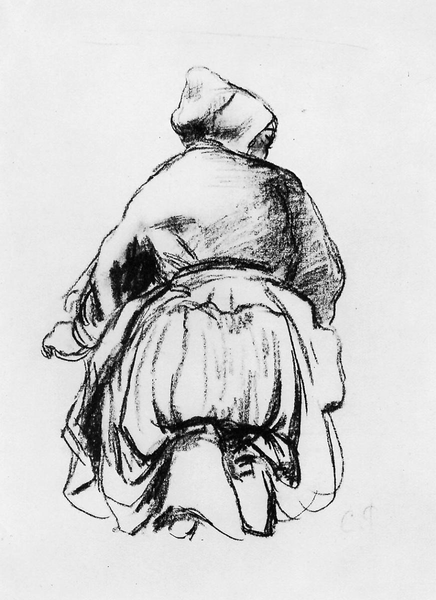 Камиль Писсарро. Стоящая на коленях женщина