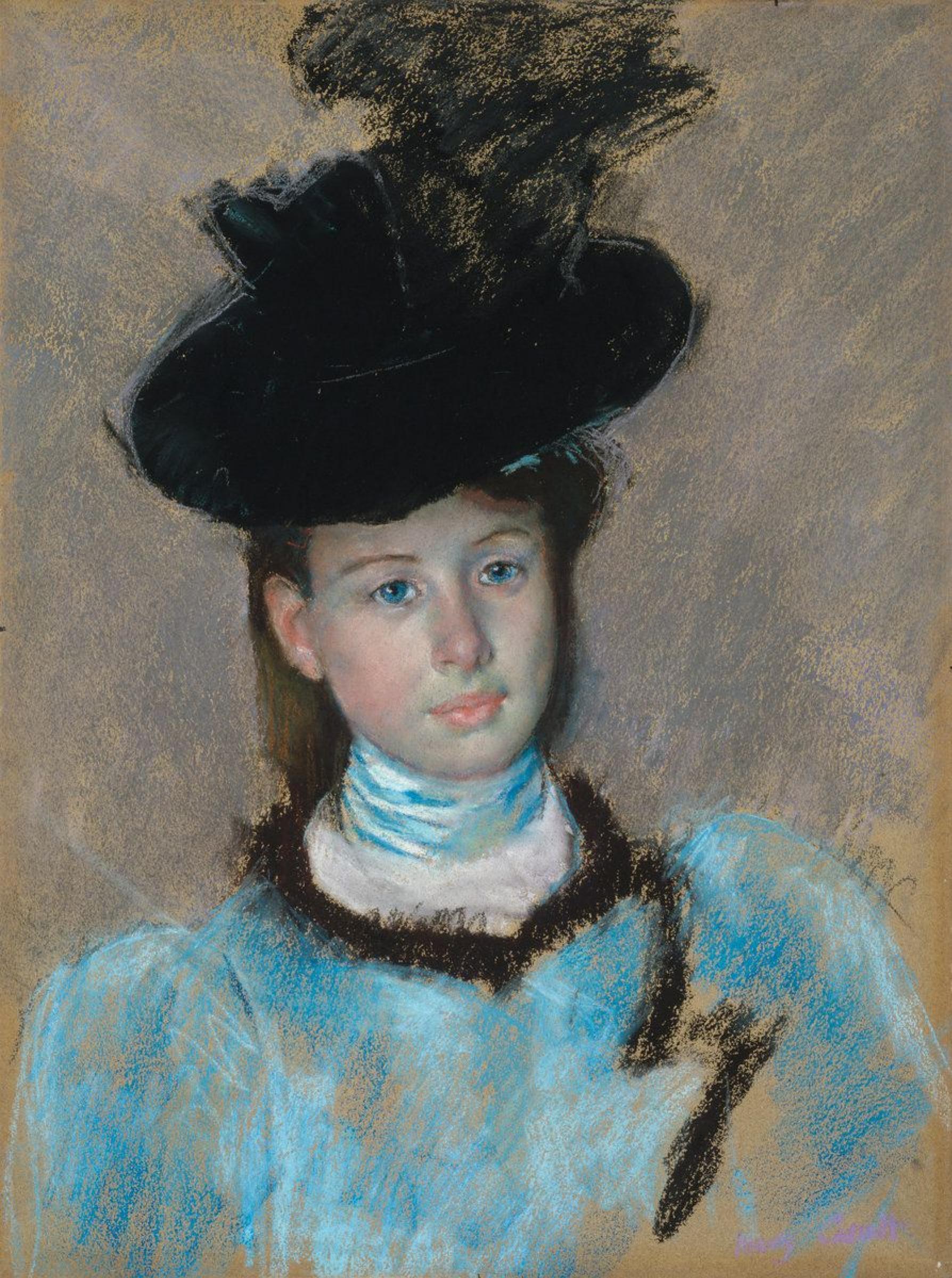 Мэри Кассат. Черная шляпка