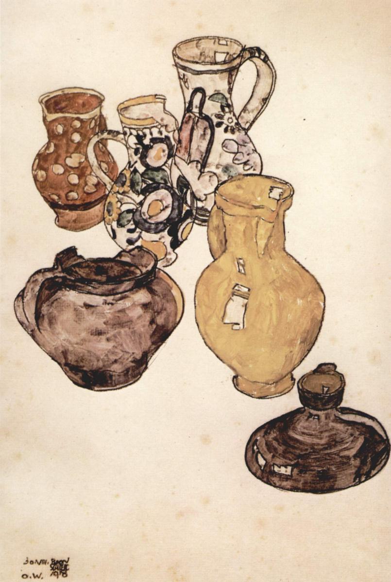 Эгон Шиле. Фаянсовая посуда
