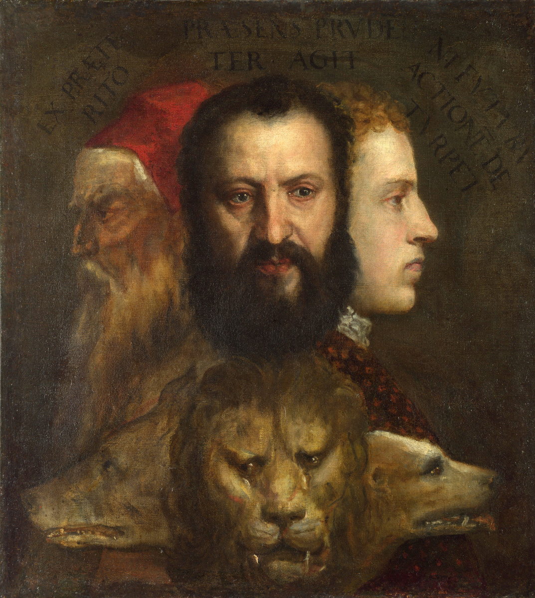 Titian Vecelli. Allegory of prudence